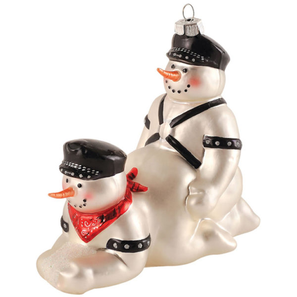Елочная игрушка Снеговики