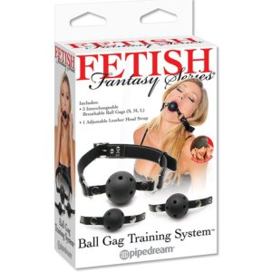 """Набор кляпов из 3 шариков разного размера Ball Gag Training System """"Fetish"""""""