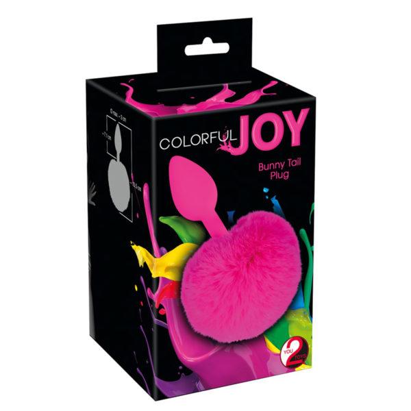 """Анальная пробка с меховым хвостиком """"Colorful Joy"""""""