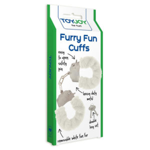 """Наручники белые Furry Fun """"Toy Joy"""""""