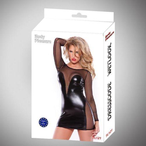 Эротическое платье платье Wetlook под латекс (L)